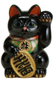 The Japanese 'Beckoning Cat' that brings Luck.